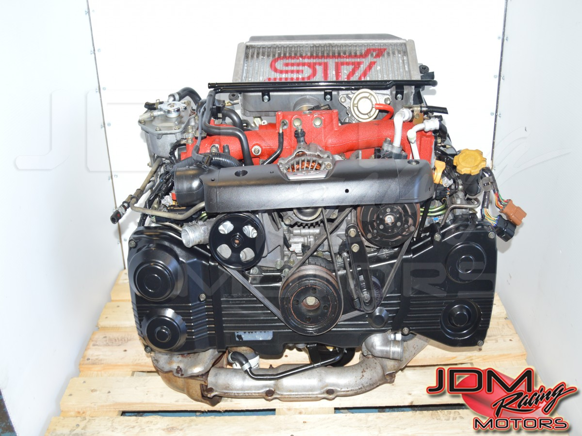 used JDM Subaru Forester STi EJ255 2 5L 04-07 Motor Swap with VF41  Turbocharger For Sale FSTI Drive by Wire WRX 06-07