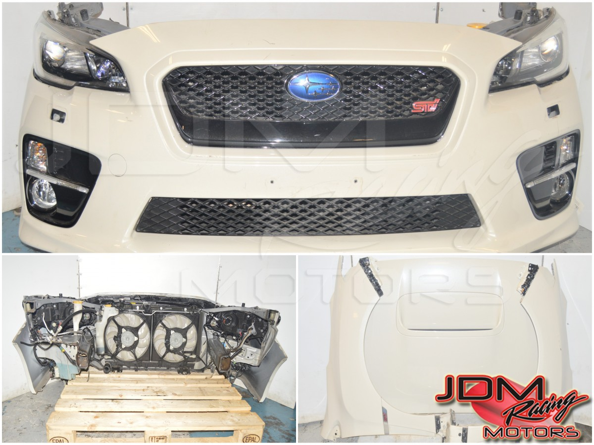 JDM Subaru STi 2015-2017 Pre-Facelift Front End Conversion Nose Cut for Sale with, Headlights, Foglights, Grille, Fenders & Hood