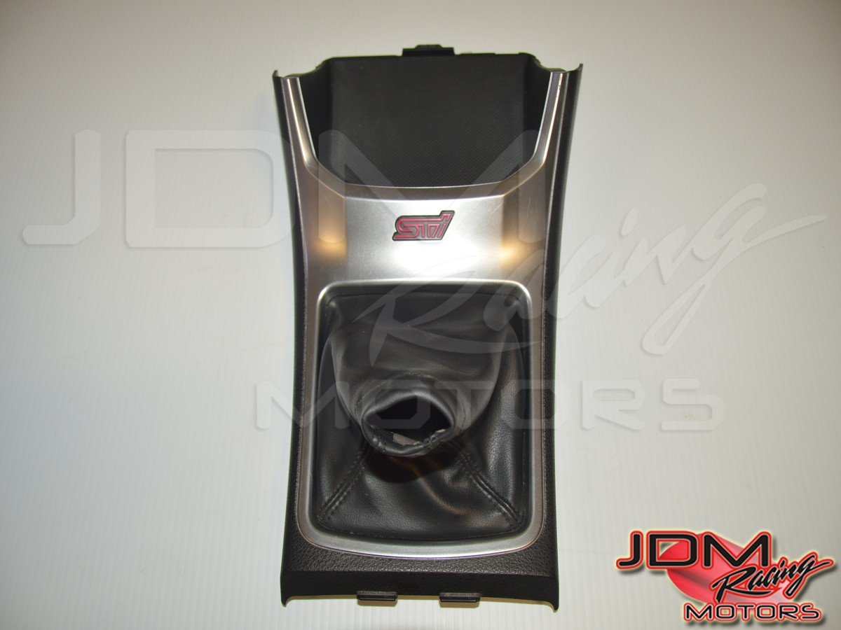 JDM Used Subaru WRX STi GR Center Shifter Trim Console Bezel Assembly with Shifter Boot for Sale