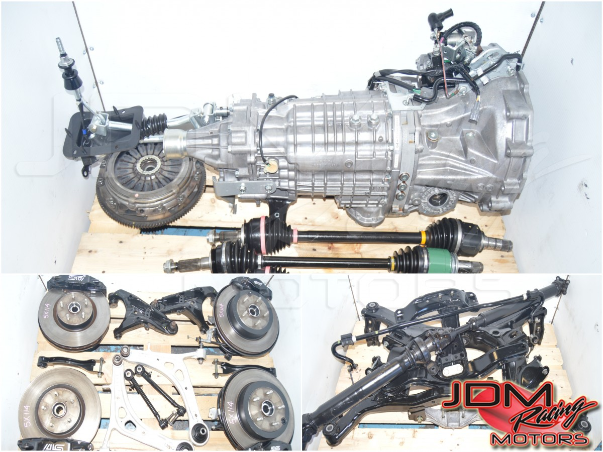 JDM Subaru STi 2015-2018 TY856UB9AA 6-Speed Complete 5x114.4 Transmission Swap for Sale with Brembos, Axles, Subframe & Rear Differential