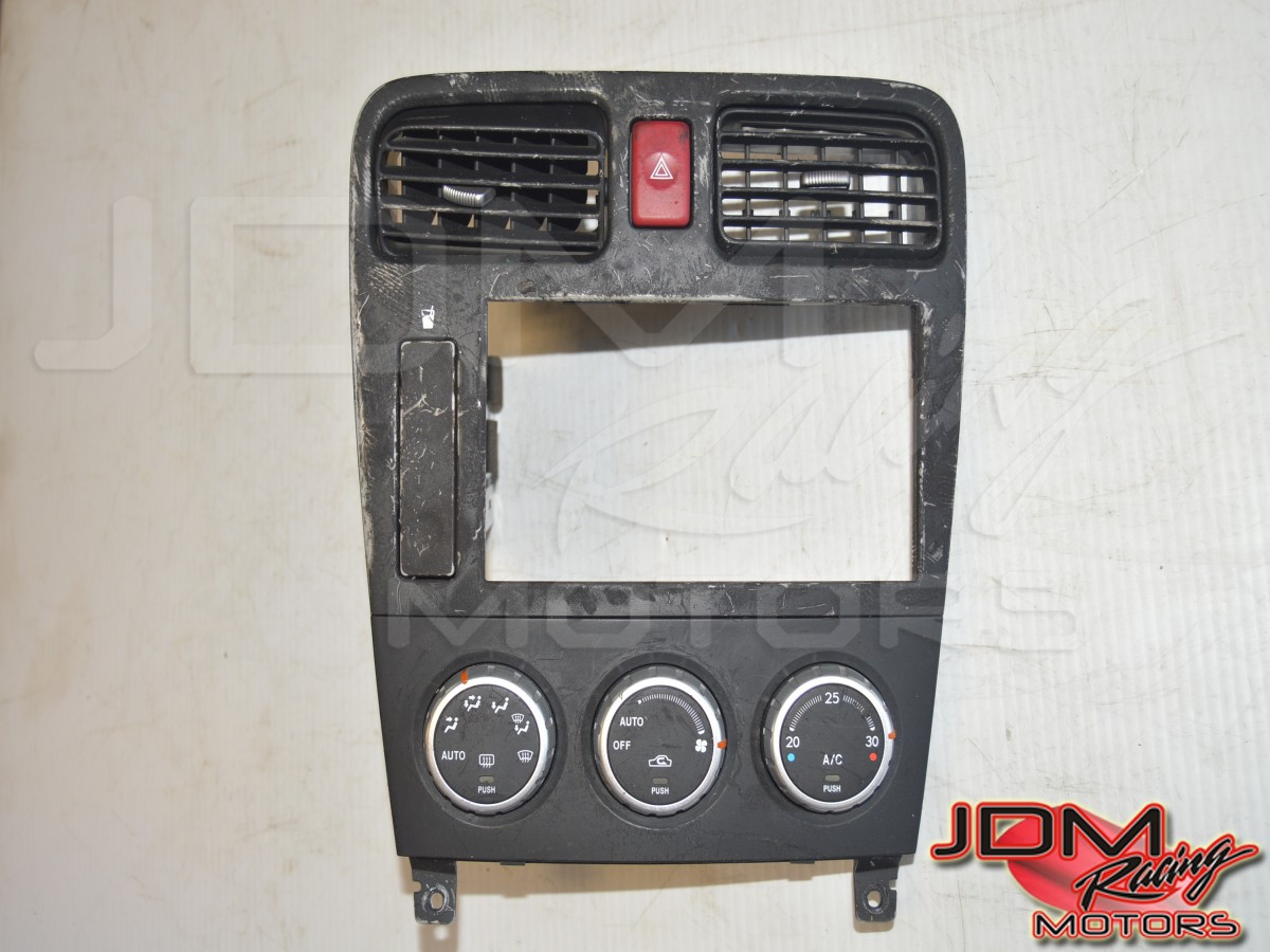 JDM Subaru Forester SG9 STI Center Console HVAC Controller, Trim, Red Hazard Button w/Cup holder for Sale