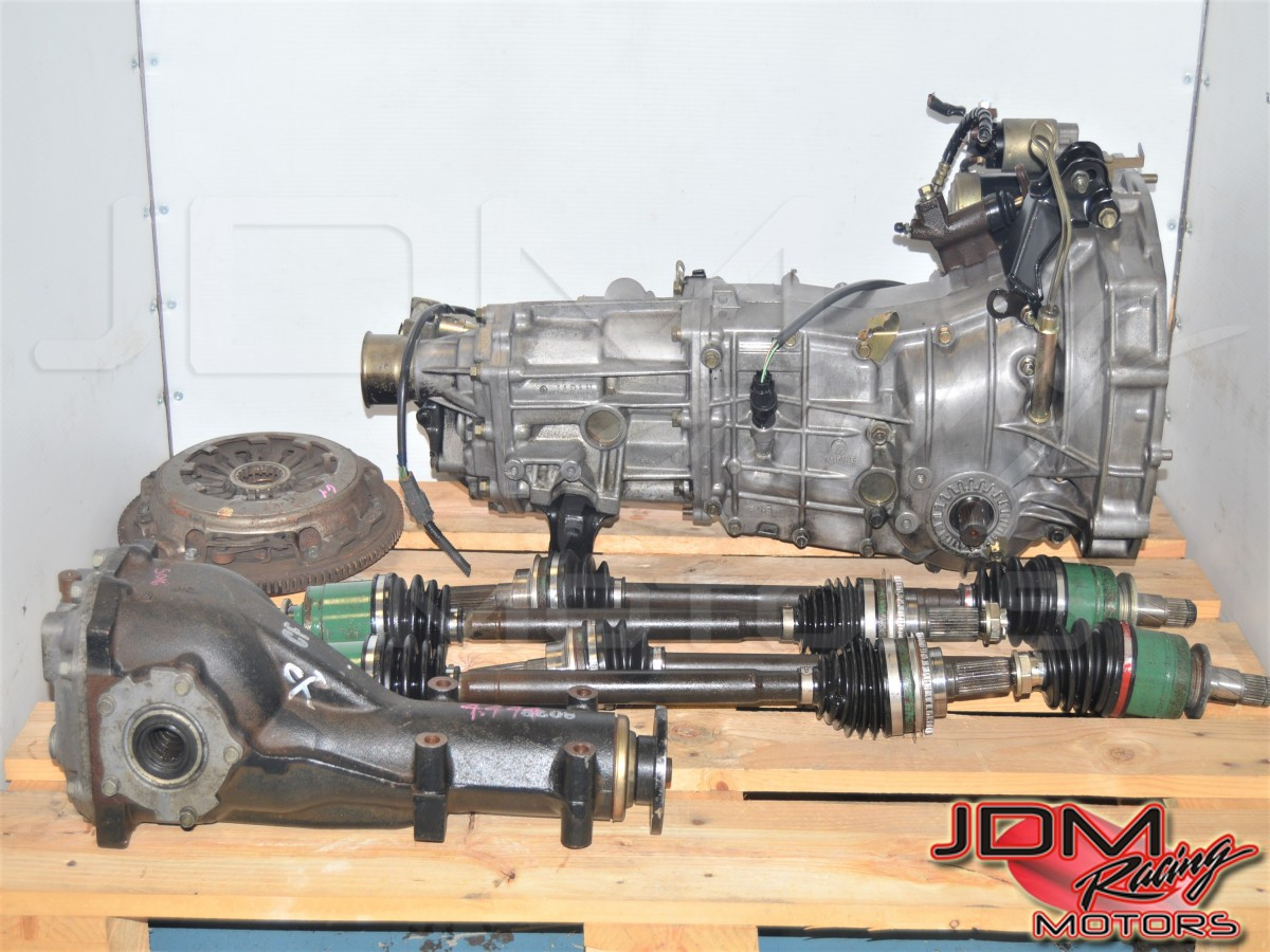 JDM Subaru WRX GDB GDA 2002-2005 4.444 Gear Ratio 5 Speed Transmission and Matching Rear Differential for Sale