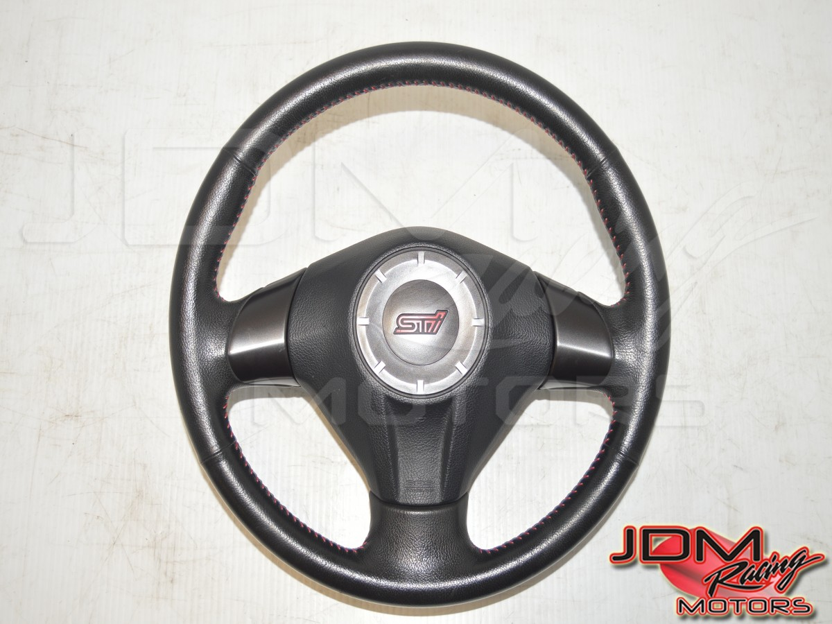 Subaru WRX STI Version 10 Black Basic Interior Steering Wheel for 2008-2014 Models
