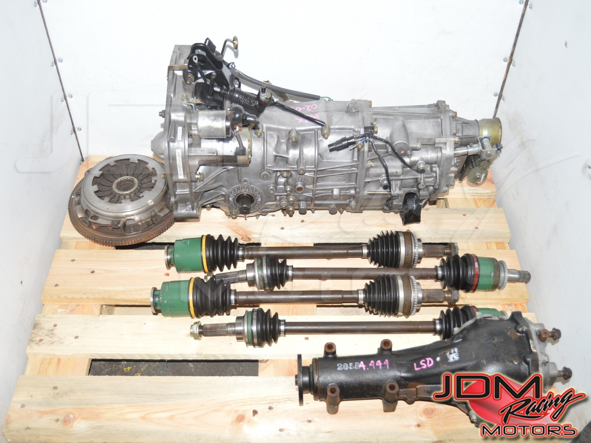 Used Subaru WRX 2002-2005 GD Manual Transmission Swap with 4.444 Rear LSD, 4 Corner Axles & Clutch Assembly
