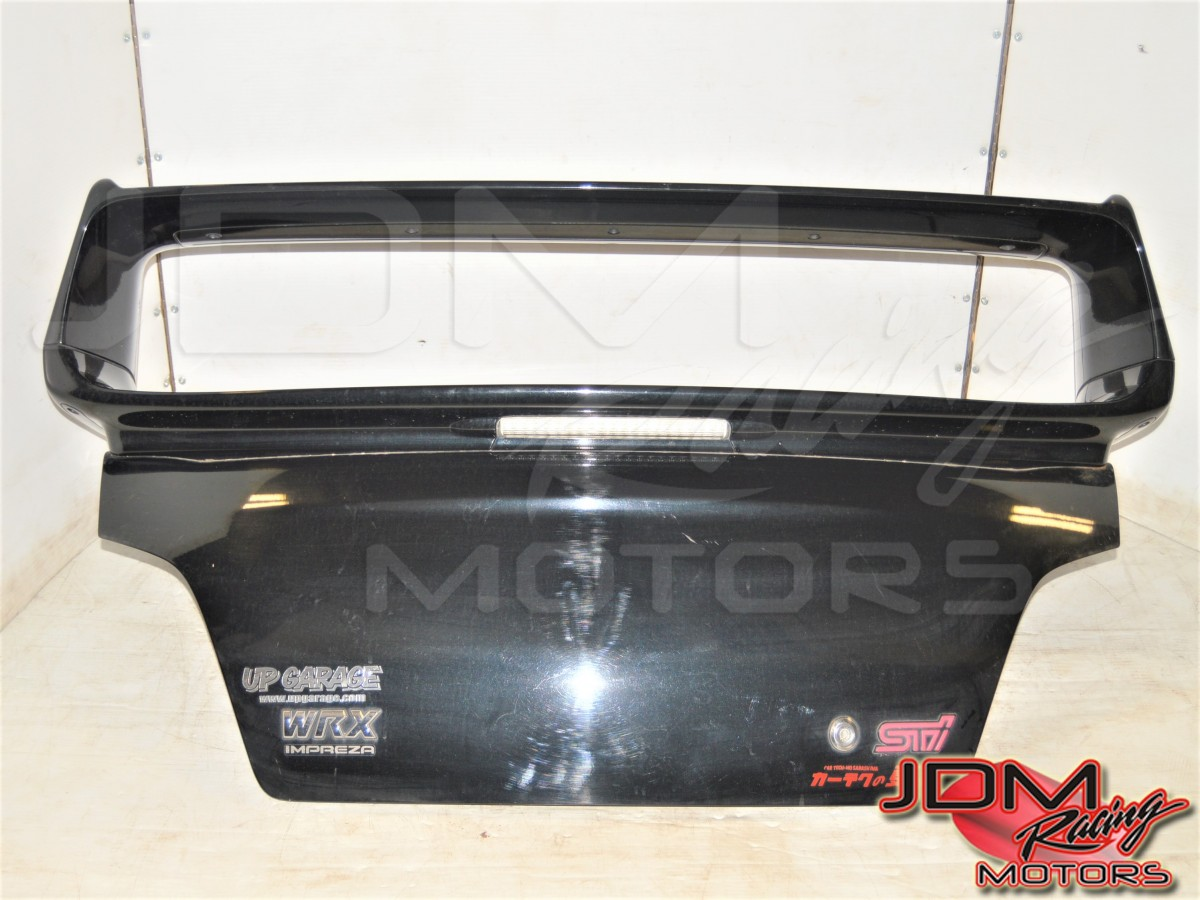 JDM Subaru WRX STi GDB 2002-2007 Black Trunk Assembly with Spoiler for Sale