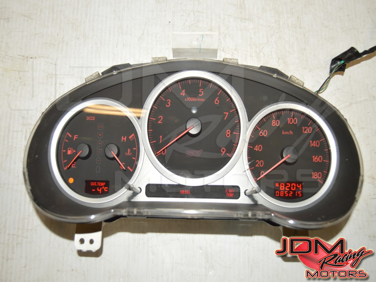 Used Subaru Version 8 180 KM/h DCCD Manual Instrument Gauge Cluster Assembly for Sale