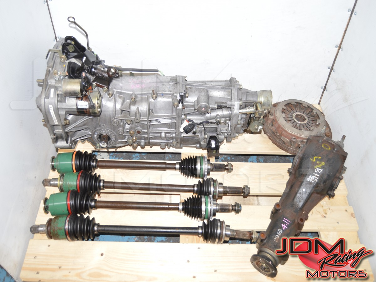 JDM Subaru 5-Speed Manual WRX GDA 2002-2005 Transmission with Axles, 4.11 Rear Differential & Clutch for Sale