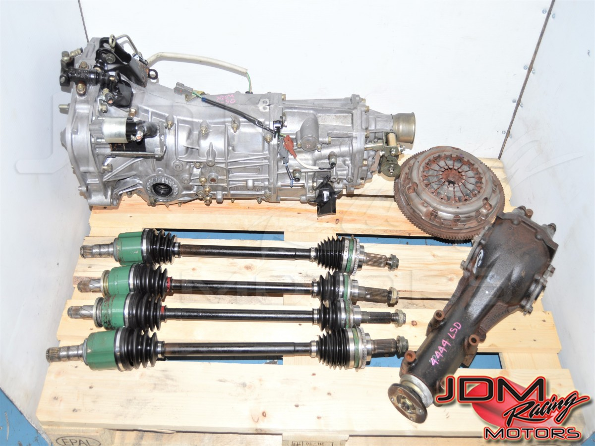 Used Push-Type JDM WRX 2006+ 5 Speed Manual GD Transmission, Axles, Clutch & Rear 4.444 LSD