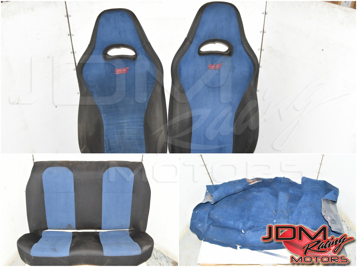 Used Subaru Version 8 STi 2002-2007 Blue Front & Rear Seats with RHD Interior Carpet for Sale