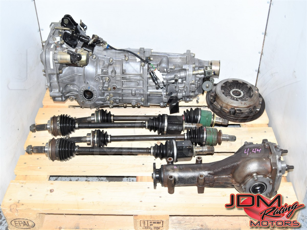 Used JDM WRX 2002-2005 5-Speed Manual Transmission with GD Axles, Clutch Assembly & Rear 4.444 LSD