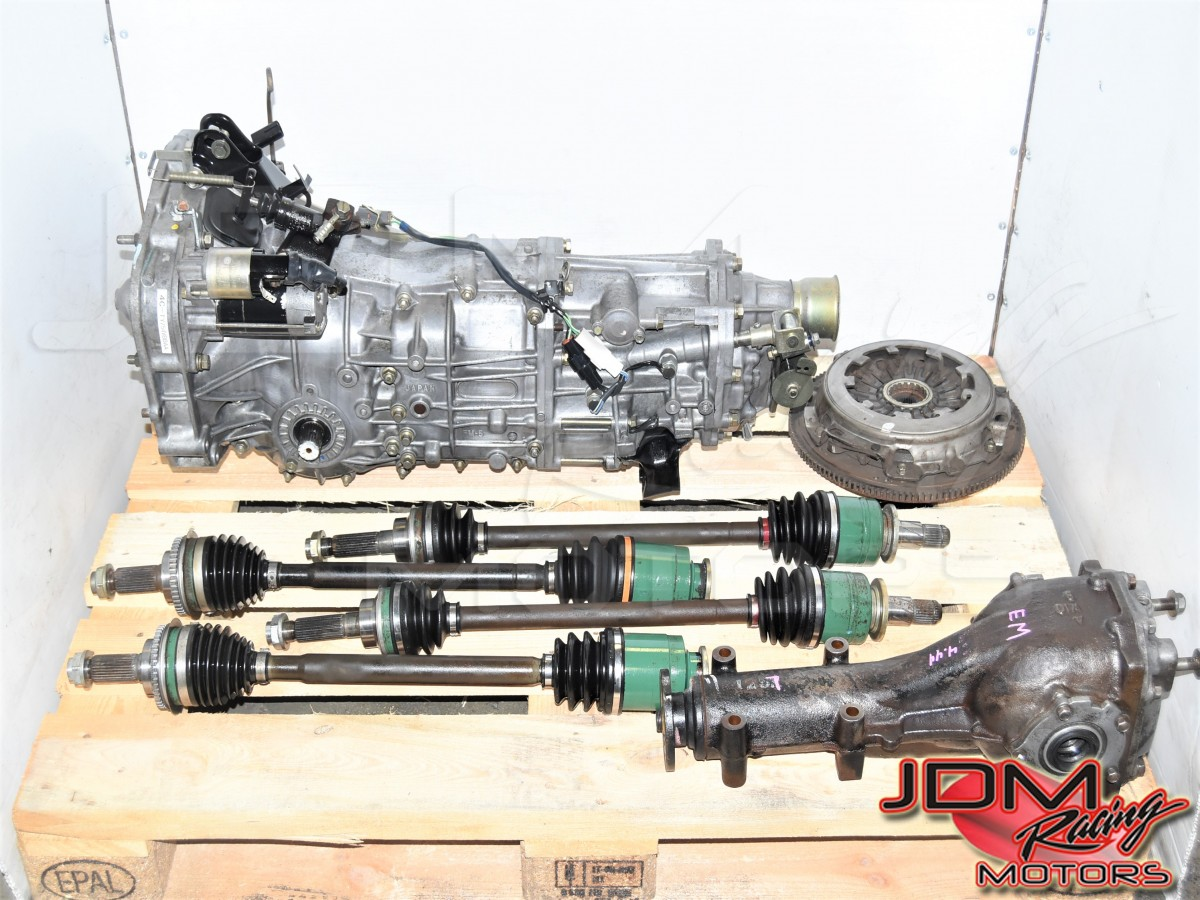 Used Subaru JDM WRX 2002-2005 Manual Transmission with Rear 4.444 Ratio LSD, GD Axles & Clutch